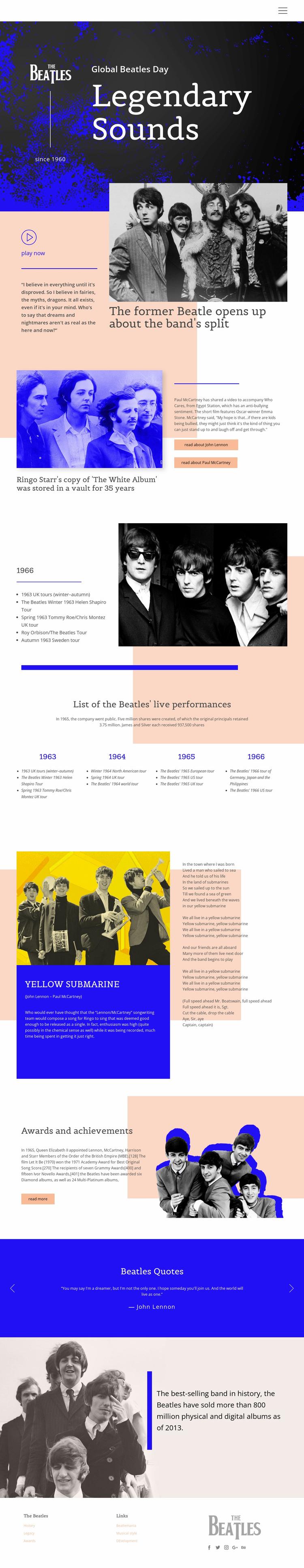 Legendary Sounds Website Design