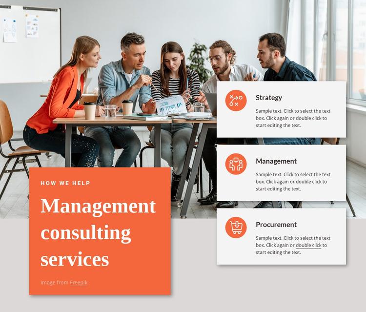 Strategy, digital, advanced analytics Website Mockup