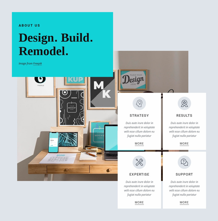 We create design with meaning Website Template