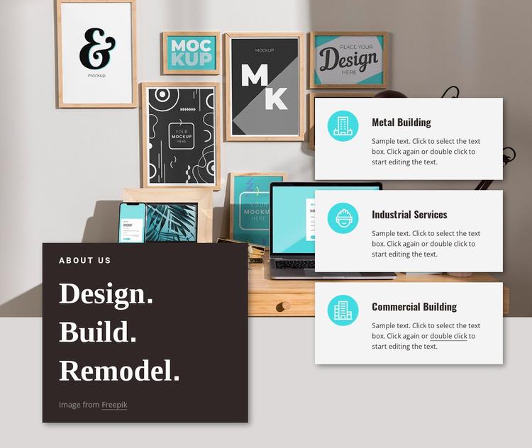 Create innovations Website Template