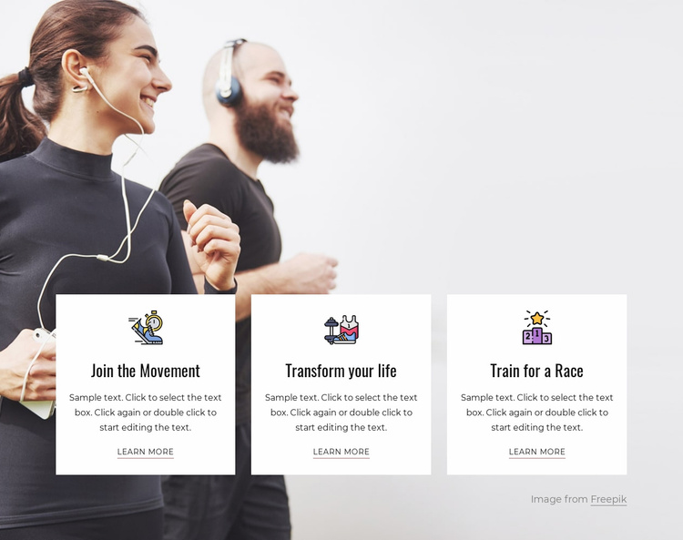 Pick a goal and start a group Website Template