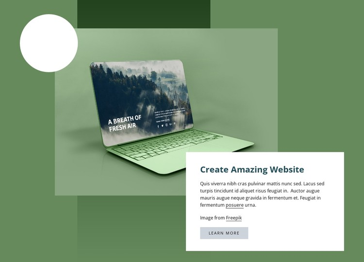 Create amazing website CSS Template
