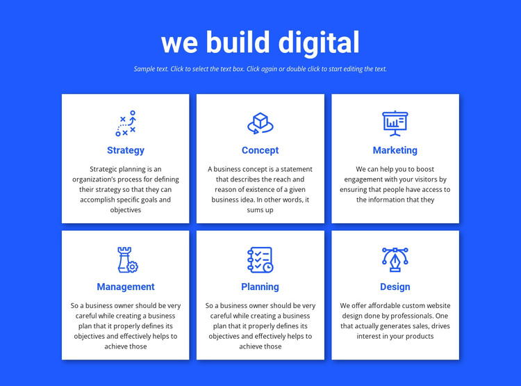 We build digital projects HTML Template