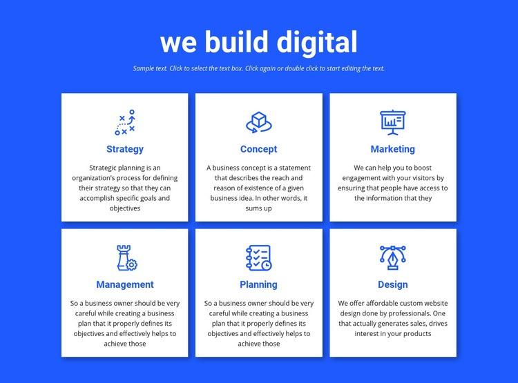 We build digital projects Web Page Designer