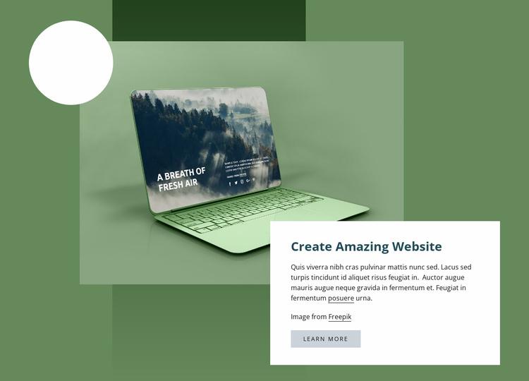 Create amazing website Landing Page
