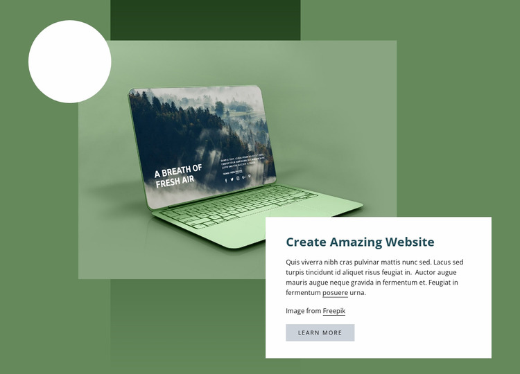 Create amazing website WordPress Website Builder