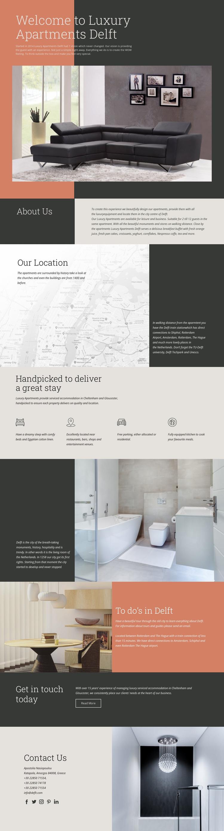 Luxury Apartments Website Mockup