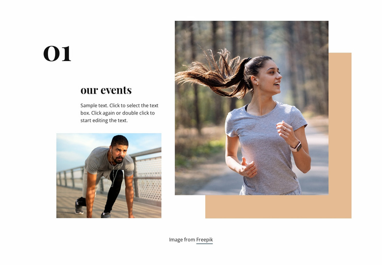 Running club events Website Template
