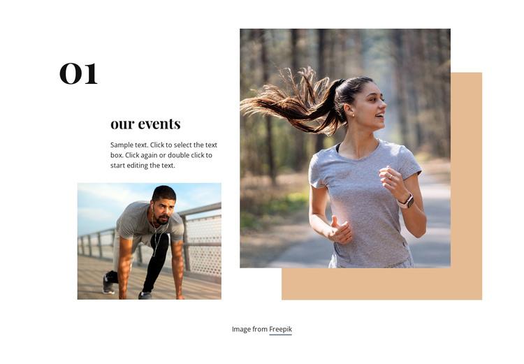 Running club events WordPress Theme