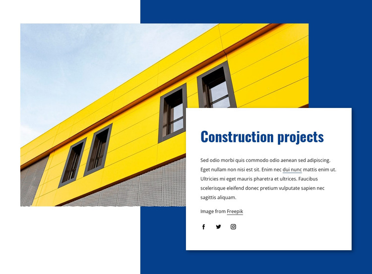 Large complex building projects HTML Template