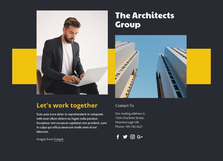 Complex construction projects Website Mockup