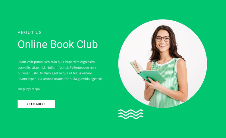 Online book club HTML Template