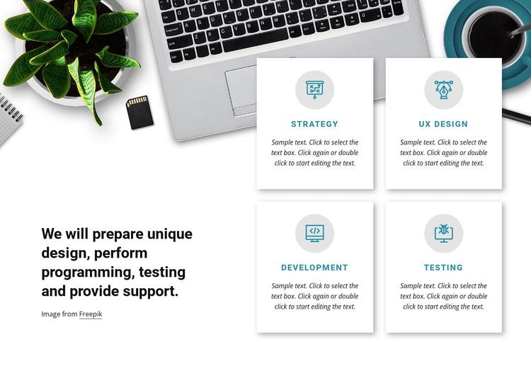 Programmimg and testing Joomla Template