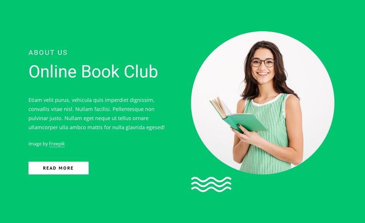 Online book club Website Template