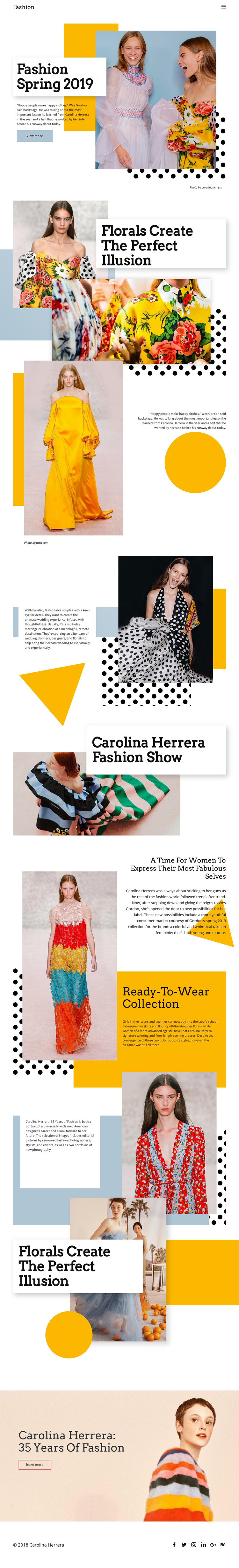 Fashion Spring Collection One Page Template
