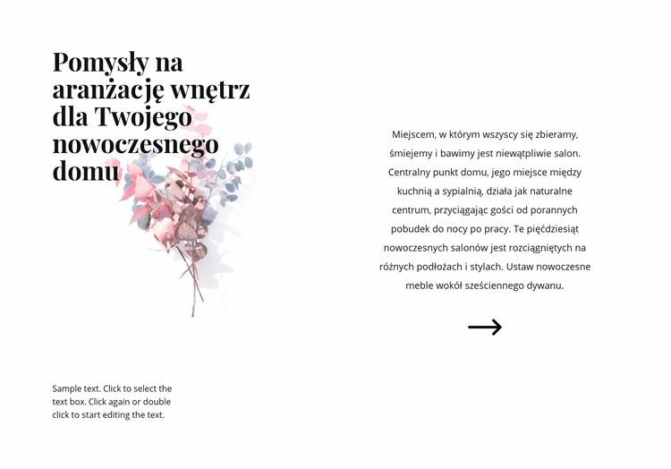 Kwiatowe formy we wnętrzu Szablon Joomla
