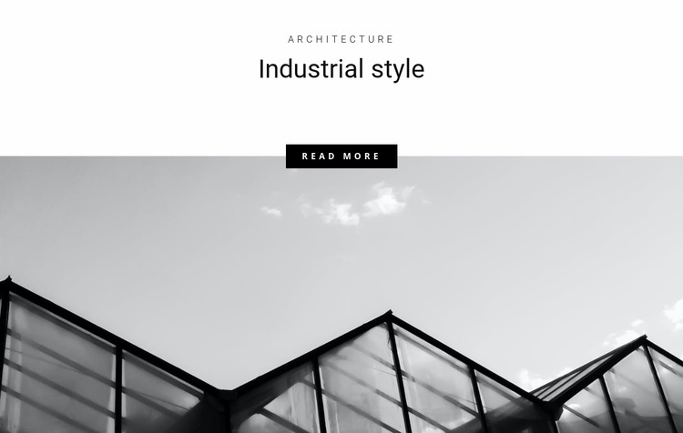Industrial styles in the city Website Mockup
