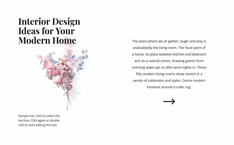 Floral forms in the interior WordPress Website Builder