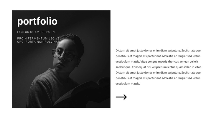 Portfolio for finding interesting work One Page Template
