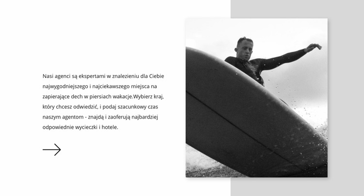 Wybierz deskę surfingową Szablon Joomla