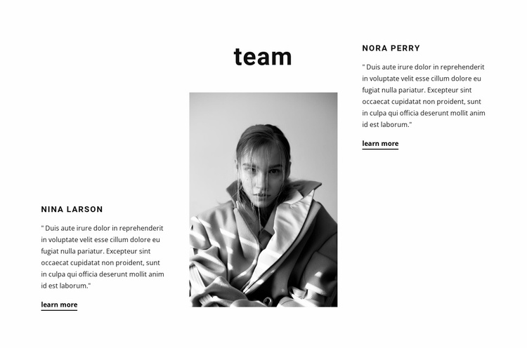 Our employees tell Website Template
