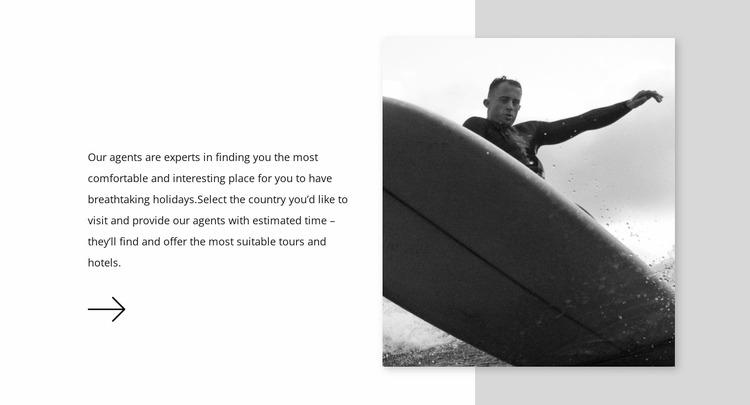 Choose a surfboard WordPress Website Builder