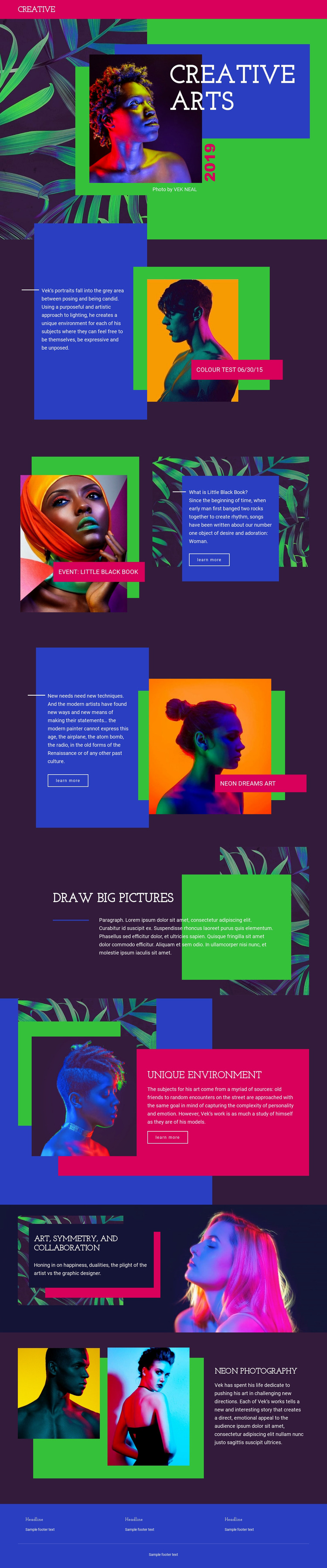 Creative Art Ideas Website Maker