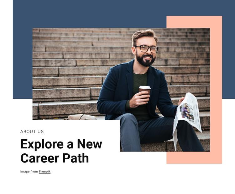 New career path HTML Template