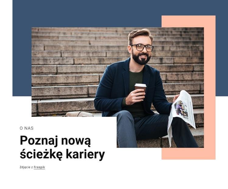 Nowa ścieżka kariery Szablon witryny sieci Web