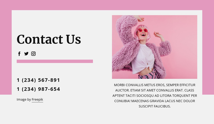 Coolest contact us block HTML Template