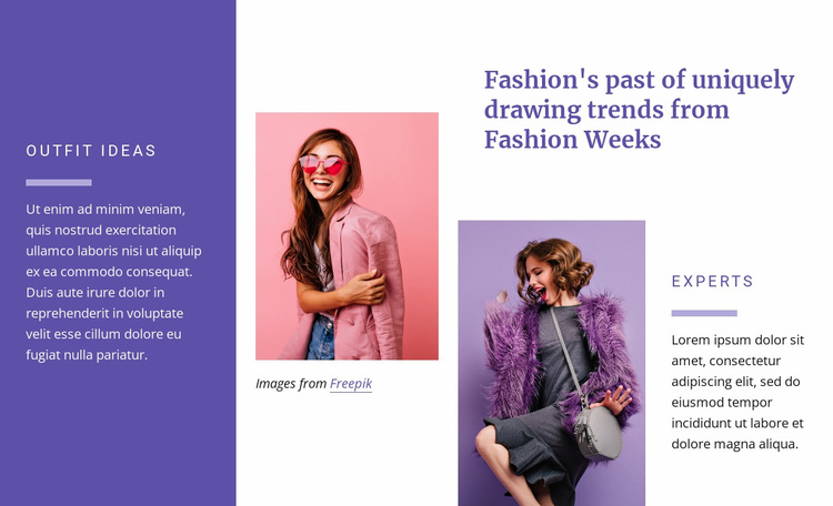 Outfits ideas Website Design