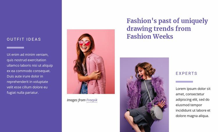 Outfits ideas Website Mockup