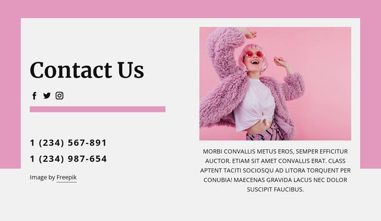 Coolest contact us block Website Template