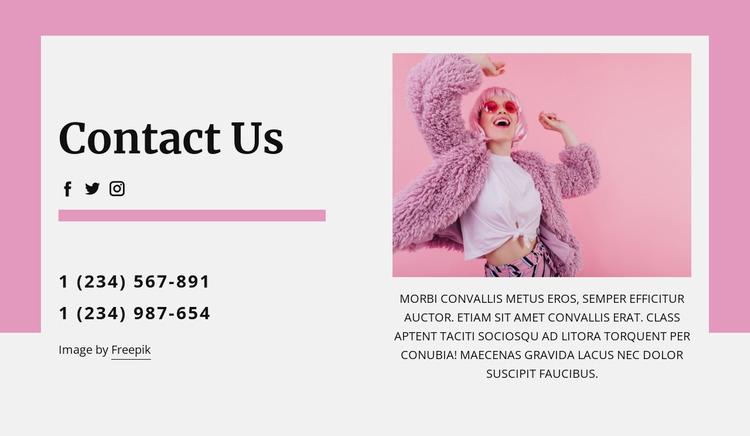 Coolest contact us block WordPress Website Builder