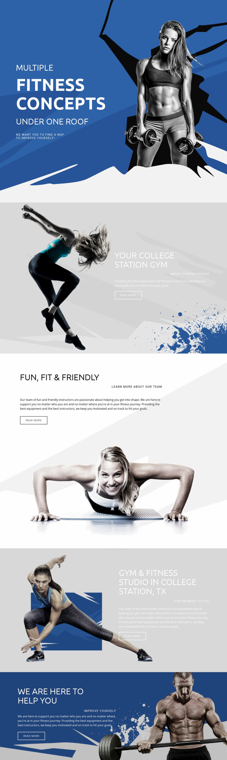 Best fitness and sports Web Page Design