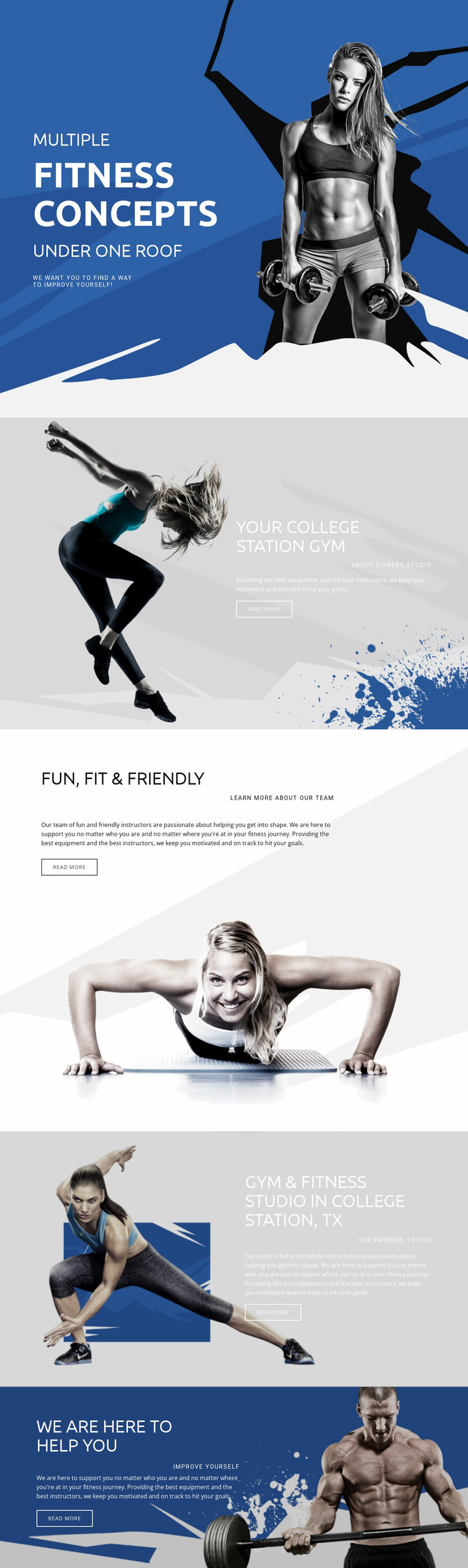 Best fitness and sports Website Mockup