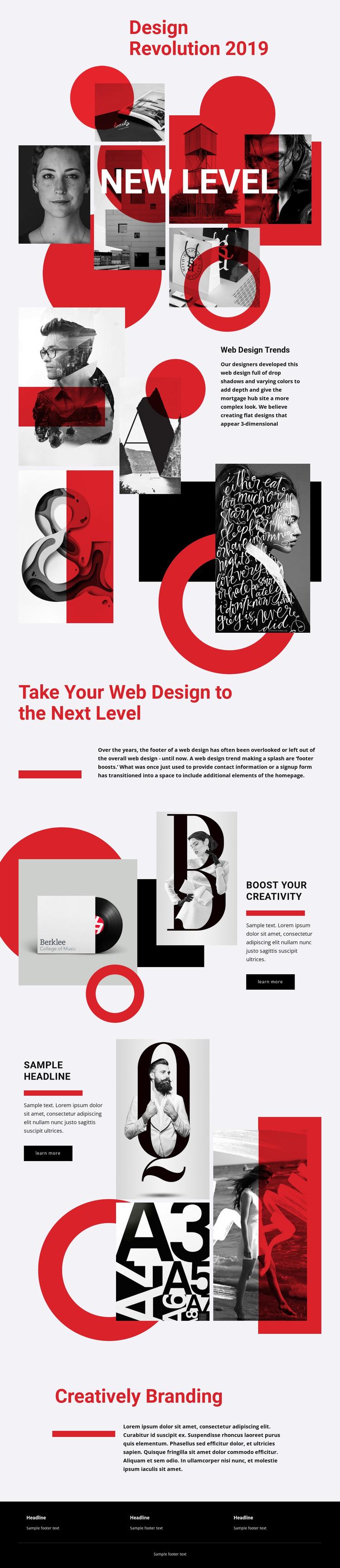 Discovering levels of art Web Design