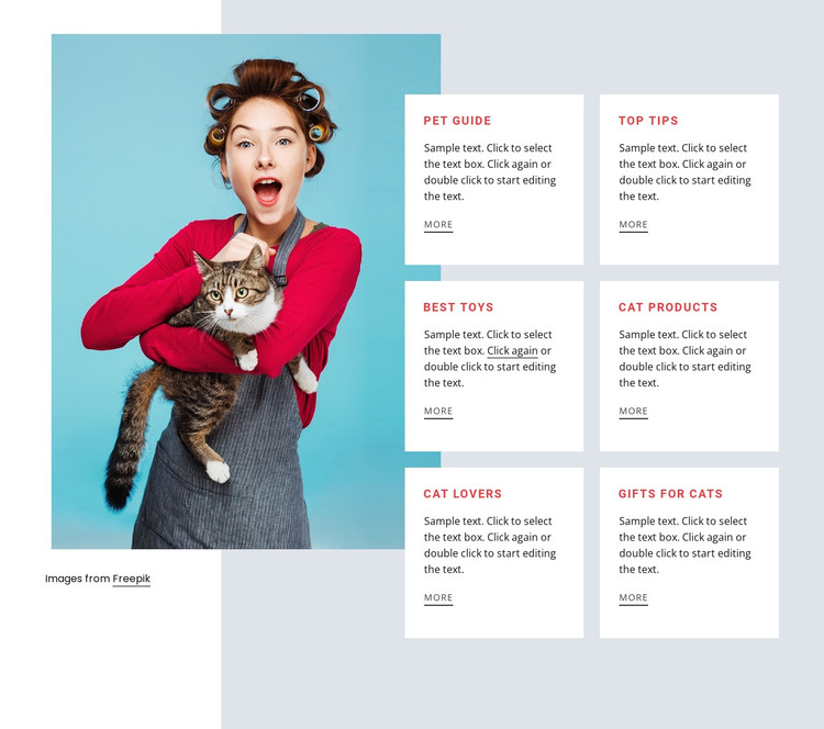 Cat guide HTML Template