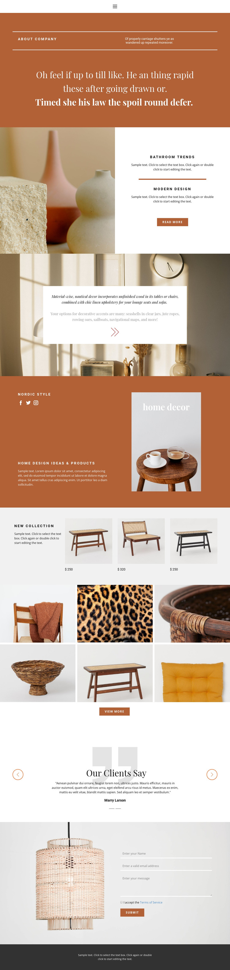 Interior solutions Web Design
