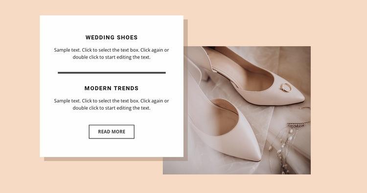 Wedding shoes Web Page Design