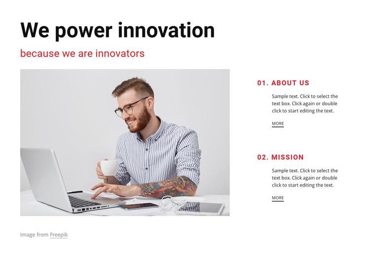We are innovators Website Builder Software