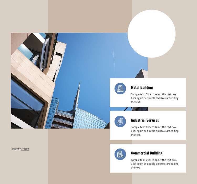Industrial and commercial buildings Website Template