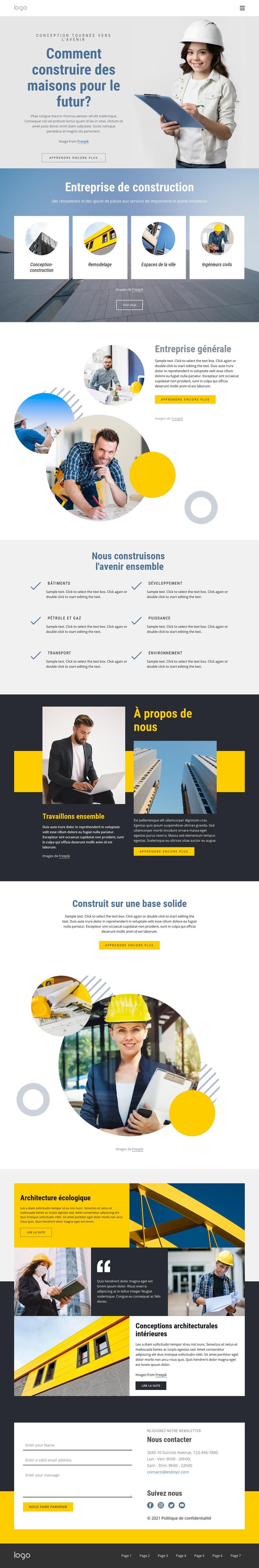 Entreprise générale Modèle de site Web