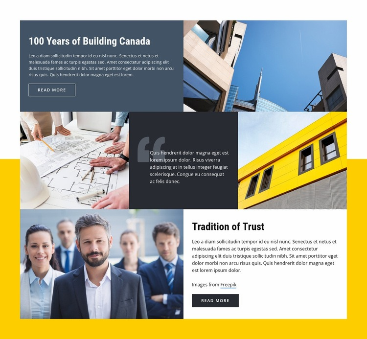 Tradition of trust Homepage Design