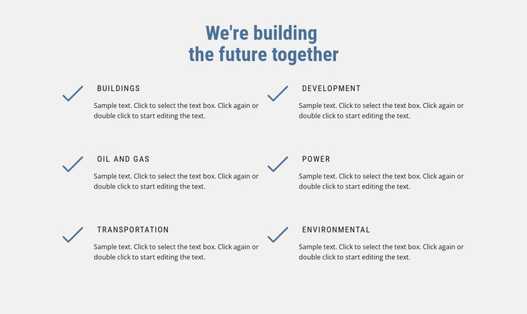 We are building the future Website Template