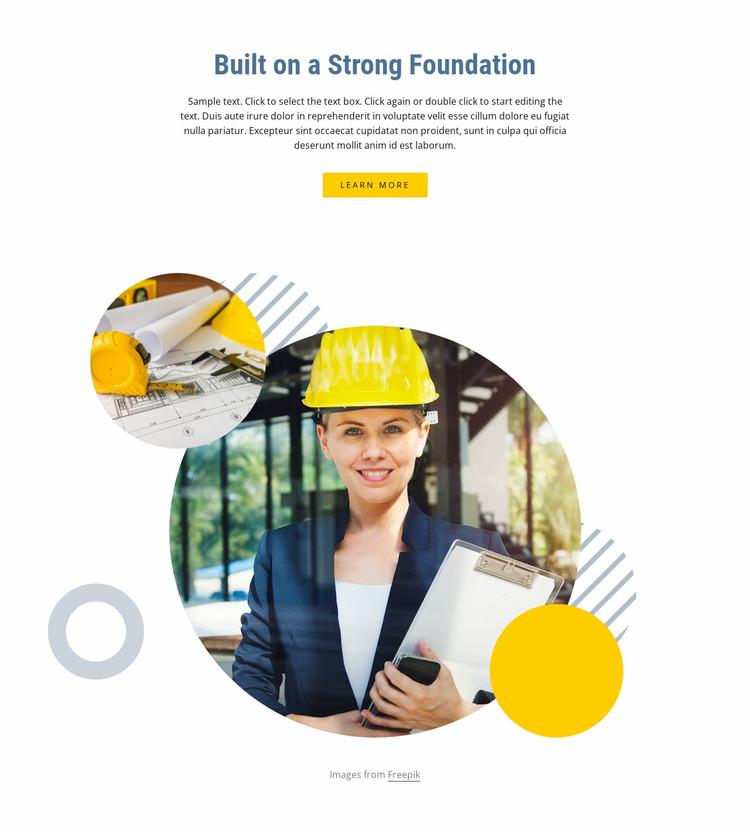Modular building Website Mockup
