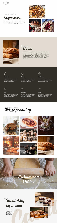 Ciasta i żywność do pieczenia Szablon witryny sieci Web