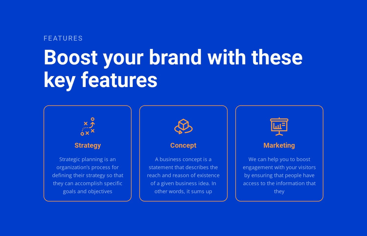 Boost your brand HTML5 Template
