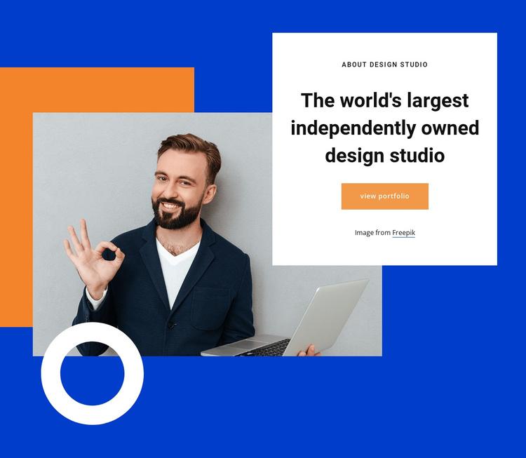 Largest design studio Joomla Template