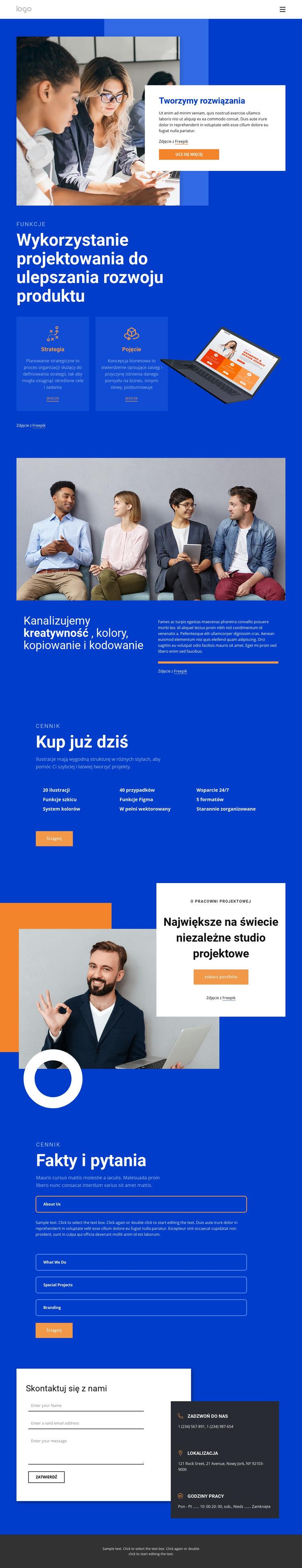 Tworzymy niesamowite rozwiązania Szablon witryny sieci Web